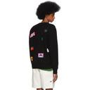 The Elder Statesman Black Cashmere Patch Sweater