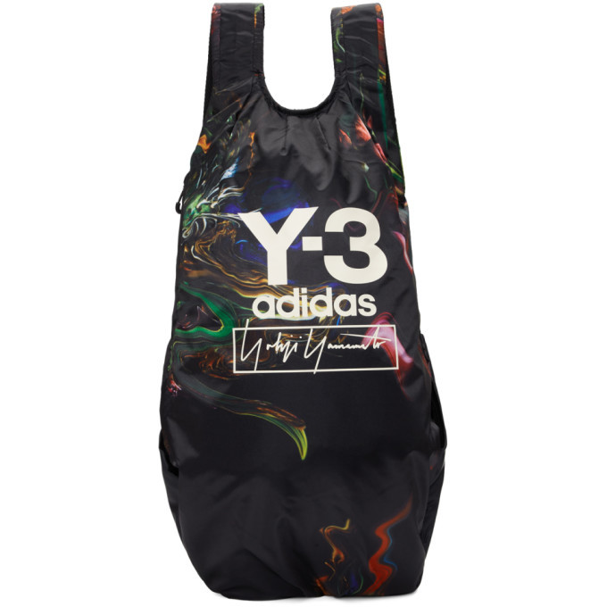 Photo: Y-3 Black and Multicolor Logo Backpack