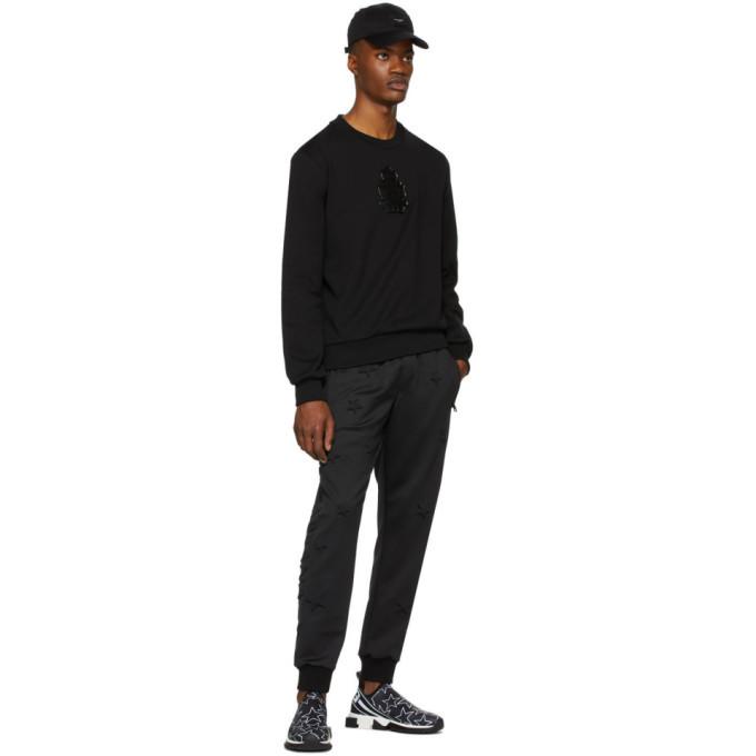 Dolce and Gabbana Black Logo Patch Sweatshirt