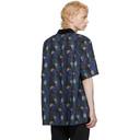 Sacai Black and Blue Sun Surf Edition Monstera Shirt