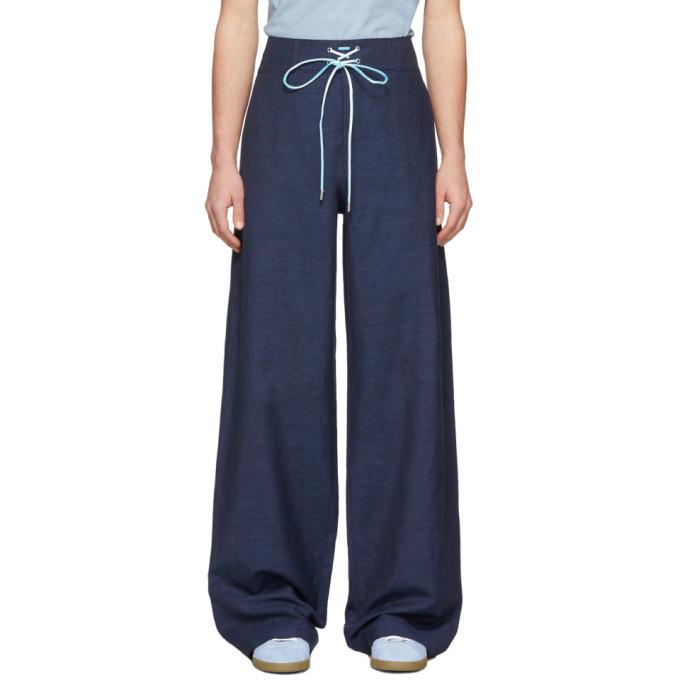 Photo: Lanvin Blue Large Hem Trousers