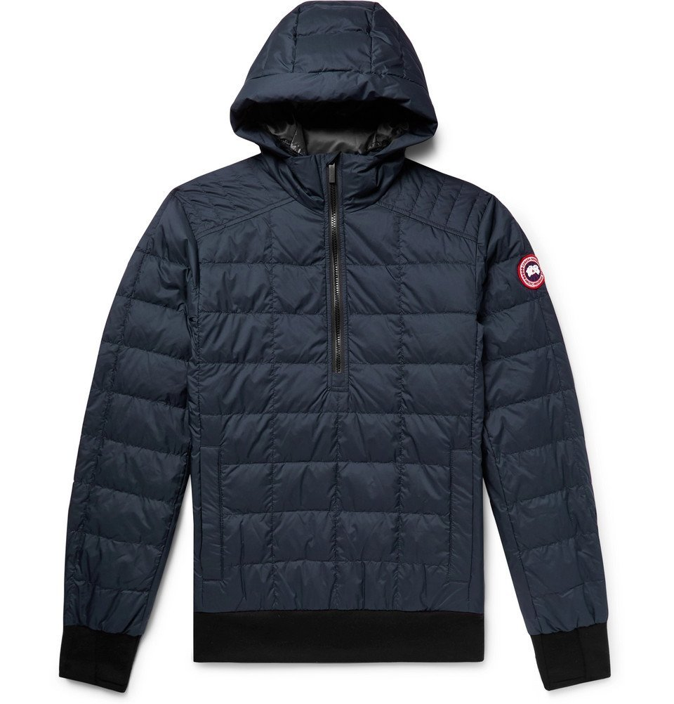 Photo: Canada Goose - Wilmington Quilted Nylon Down Hooded Jacket - Navy