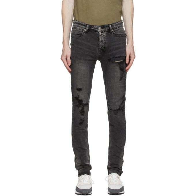 Ksubi SSENSE Exclusive Black Trashed Van Winkle Angst Jeans