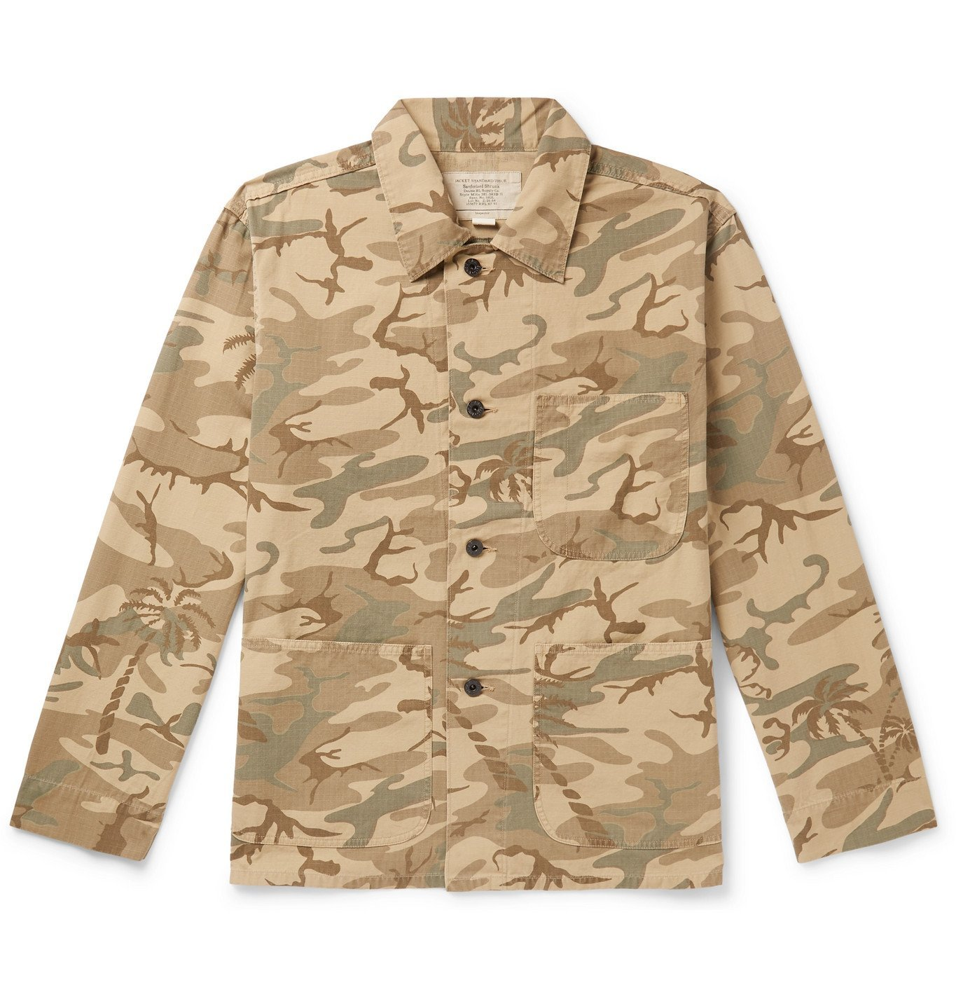 Photo: RRL - Harrison Camouflage-Print Cotton-Ripstop Jacket - Green