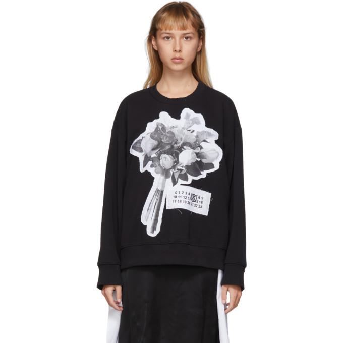 Photo: MM6 Maison Margiela Black Graphic Sweatshirt