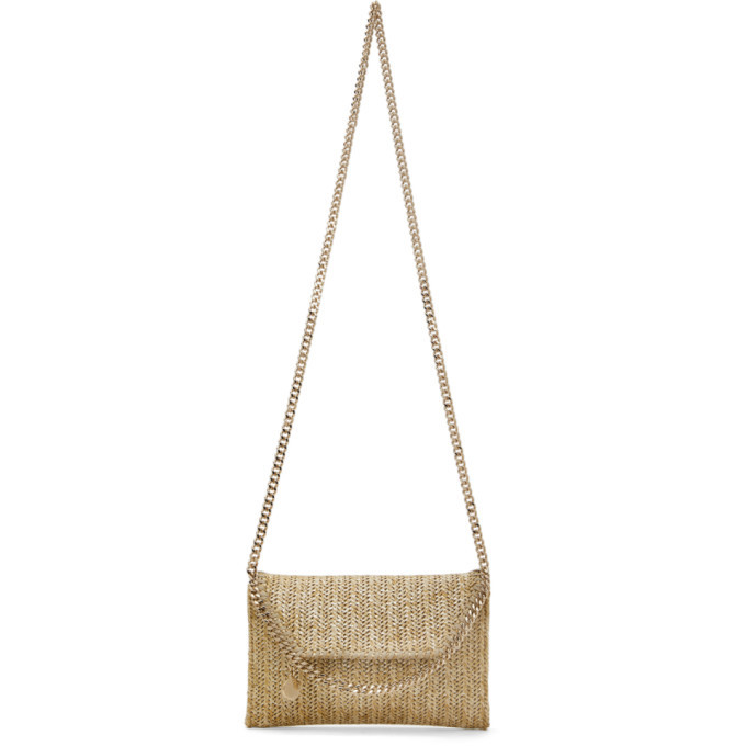 Photo: Stella McCartney Gold Woven Mini Fallabella Shoulder Bag