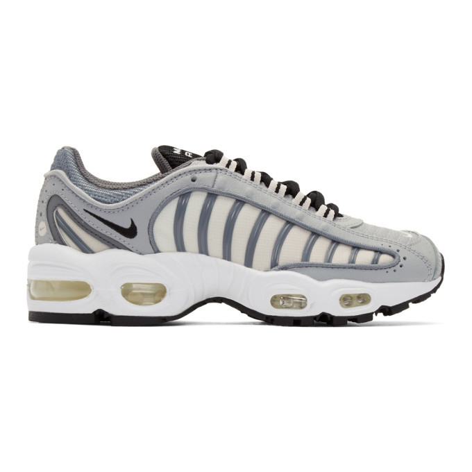 Photo: Nike Grey and White Air Max Tailwind IV Sneakers