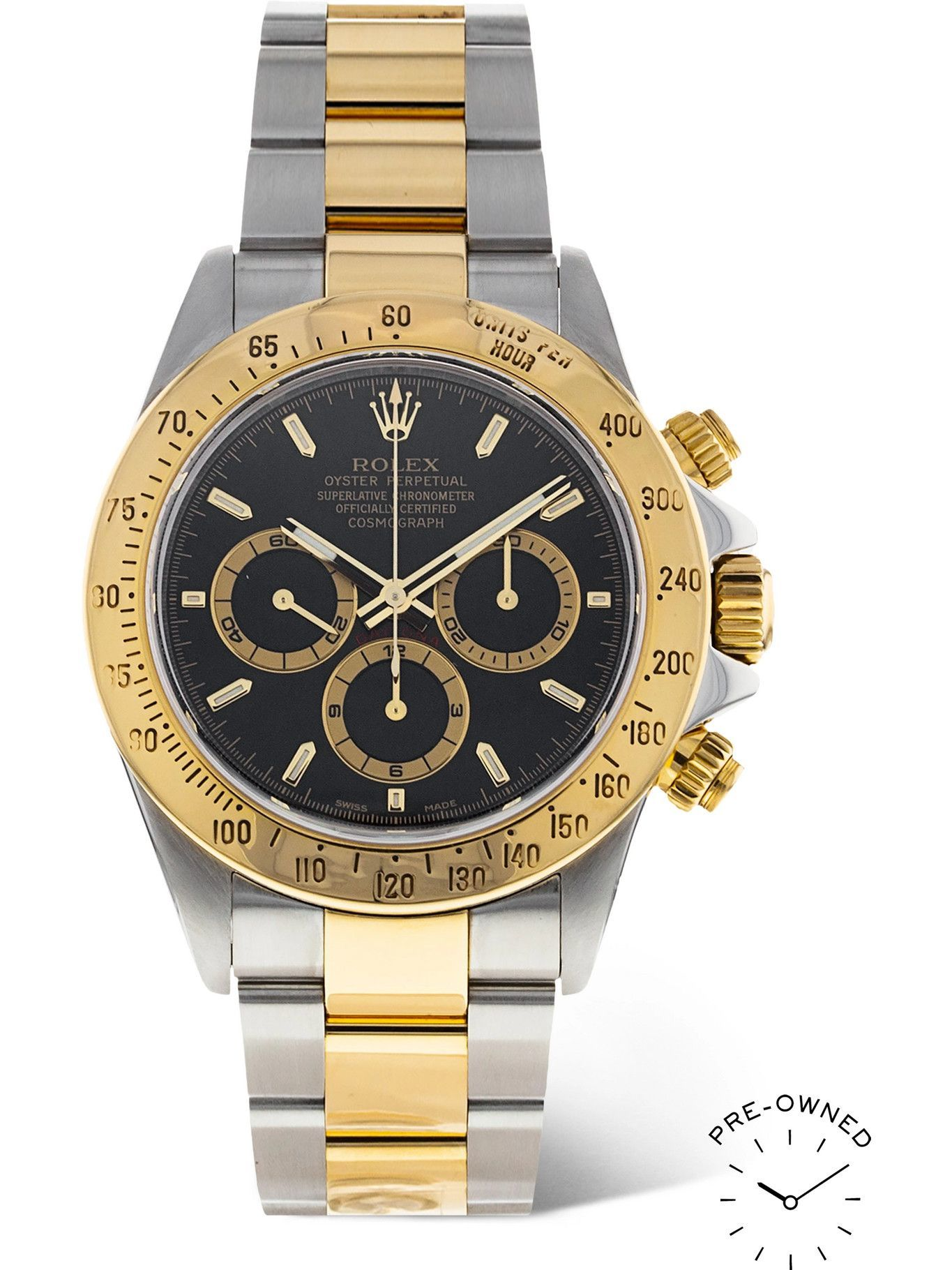Photo: ROLEX - Pre-Owned 1999 Daytona Automatic Chronograph 40mm Oystersteel, 18-Karat Gold and Diamond Watch, Ref. No. 16523