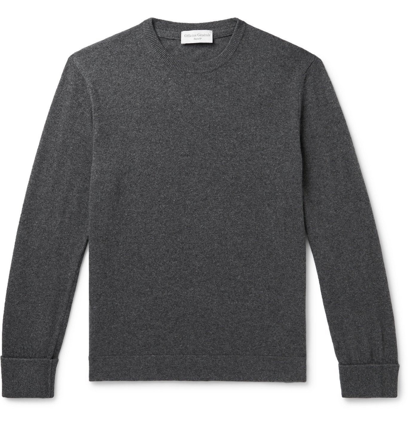 Photo: Officine Generale - Nina Mélange Cashmere Sweater - Gray