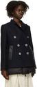 Sacai Navy & Black Padded Blazer