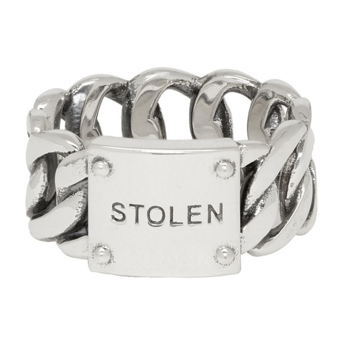 Photo: Stolen Girlfriends Club Silver Curb Wide Ring
