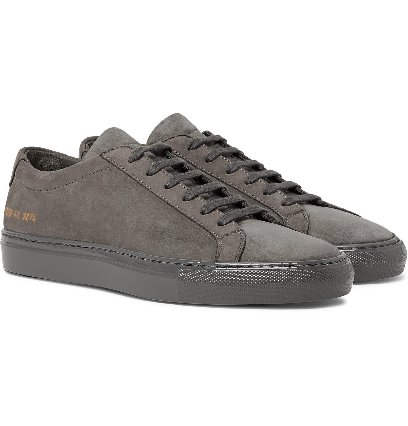 Photo: Common Projects - Achilles Lux Nubuck Sneakers - Gray