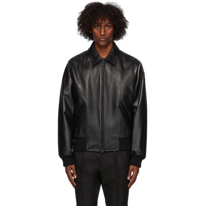 Photo: Fear of God Ermenegildo Zegna Black Double Collar Bomber Jacket