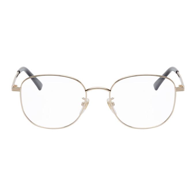 Photo: Gucci Gold Oval Glasses