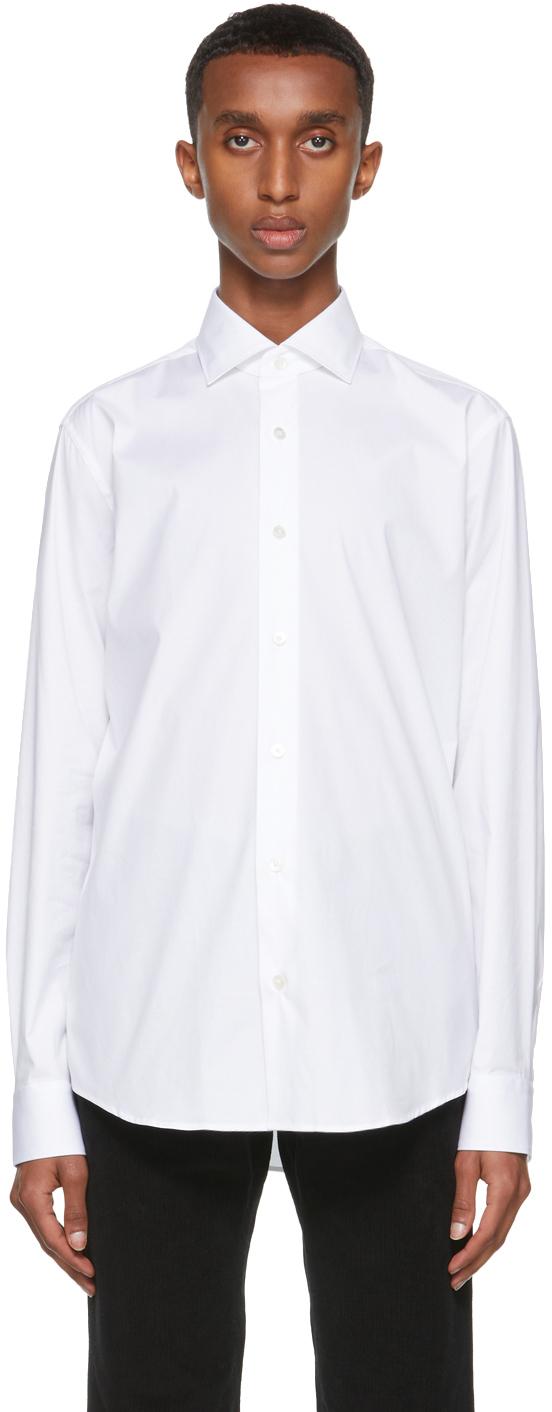 Z Zegna White Stretch Poplin Shirt