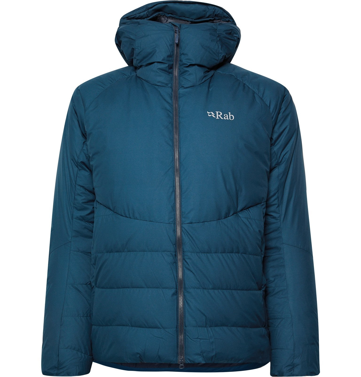 Photo: Rab - Infinity Light Quilted GORE-TEX Infinium Hooded Down Jacket - Blue