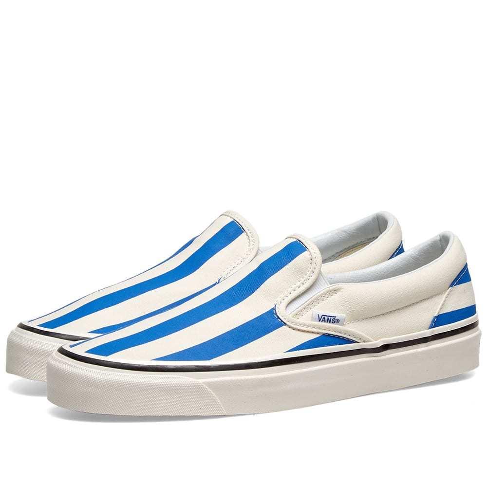Photo: Vans UA Classic Slip On 98 DX White & Blue Big Stripes