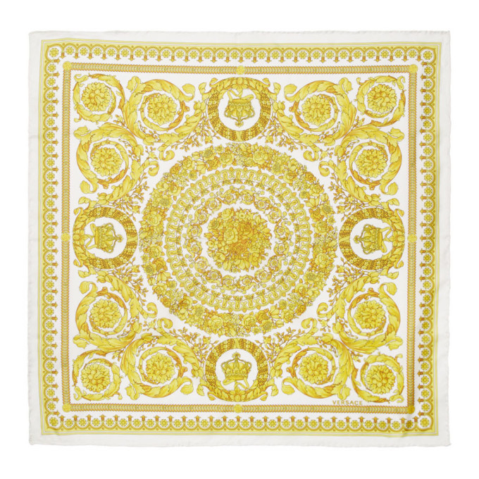 Photo: Versace Off-White Baroque Scarf