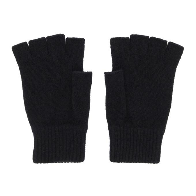 Photo: Paul Smith Black Wool Fingerless Gloves