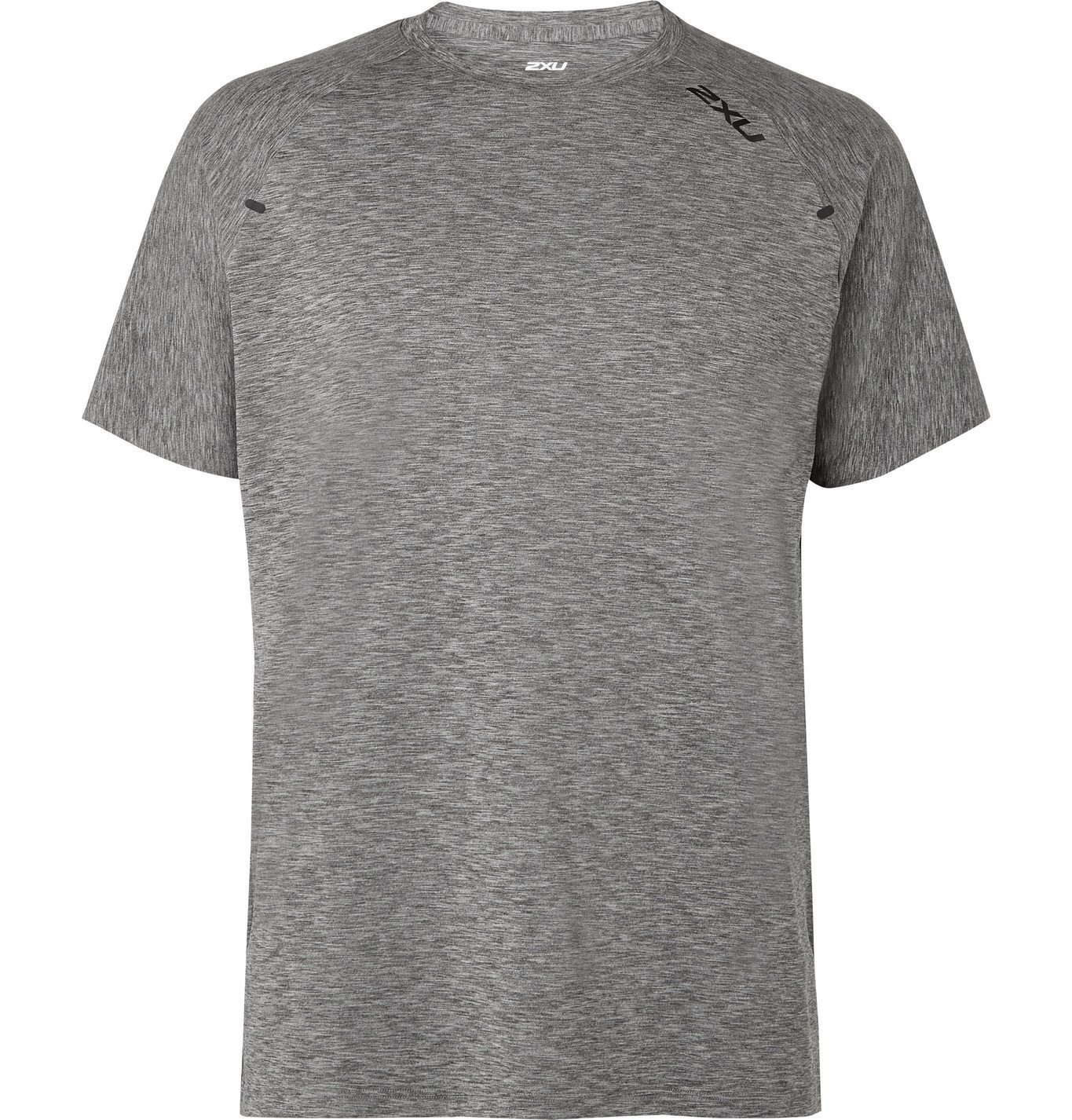 Photo: 2XU - X-CTRL Perforated Mélange Jersey T-Shirt - Gray