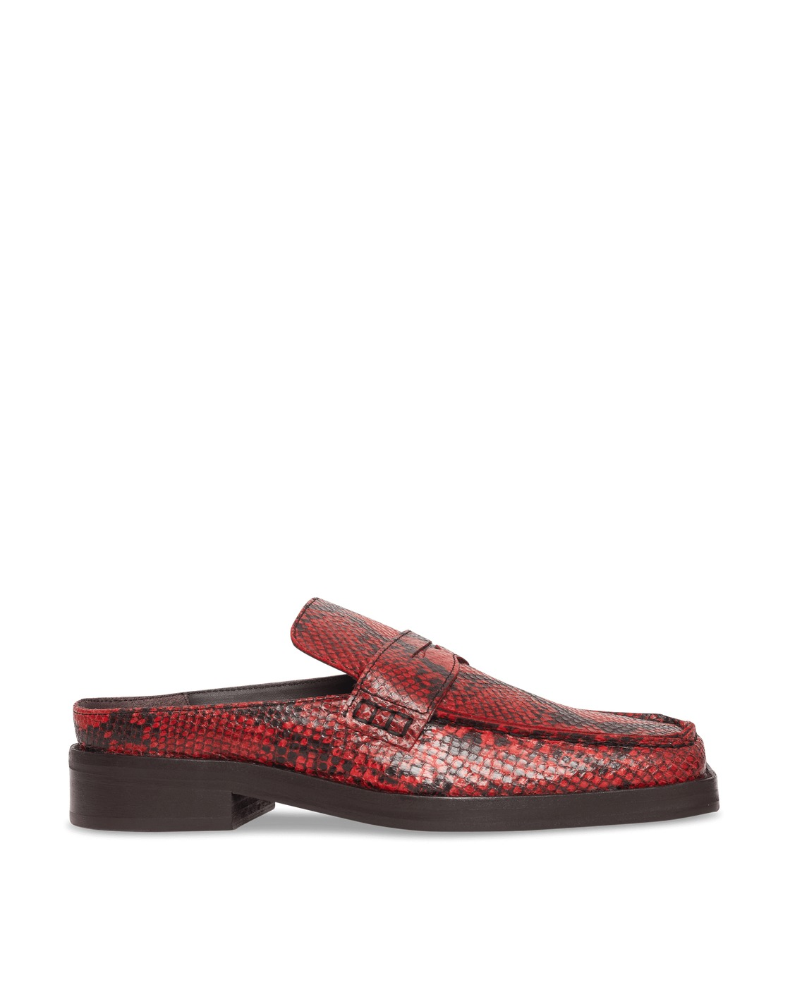Martine Rose Arches Snake Mules Red/Red