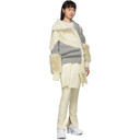 Sacai Grey and Off-White Cable Knit Jacket