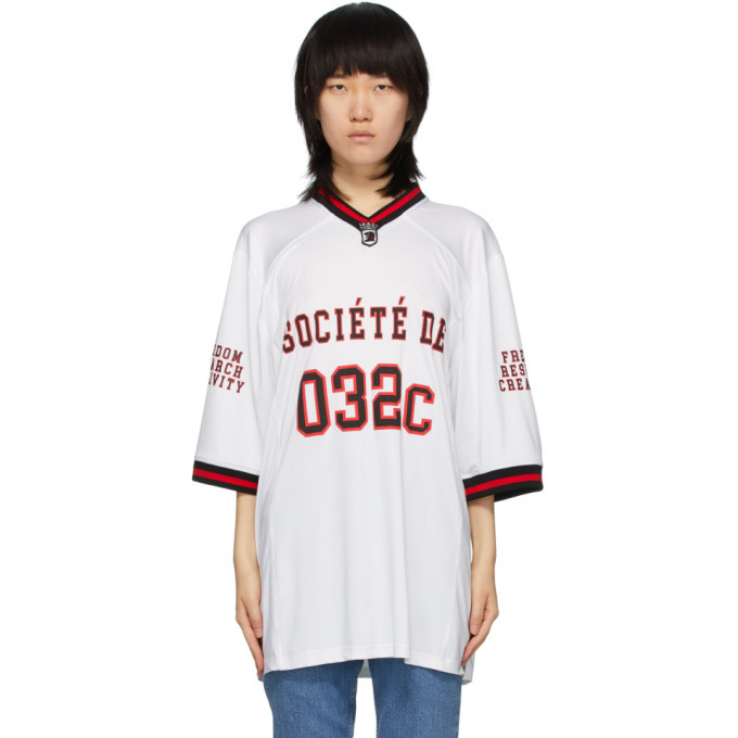 Photo: 032c White Puff Print Football Jersey