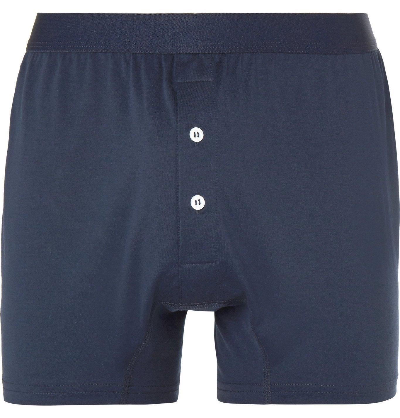 Photo: Handvaerk - Pima Cotton-Jersey Boxer Briefs - Blue