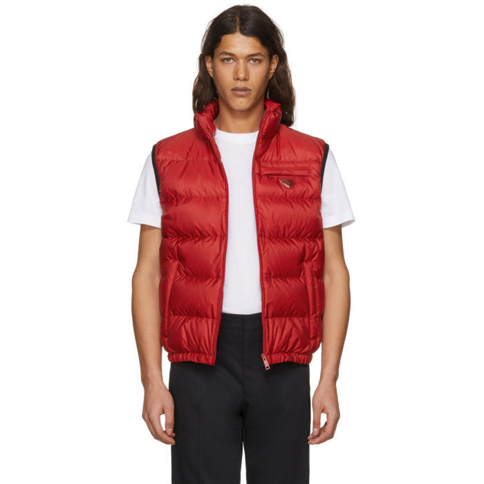 Photo: Prada Red Down Puffer Vest