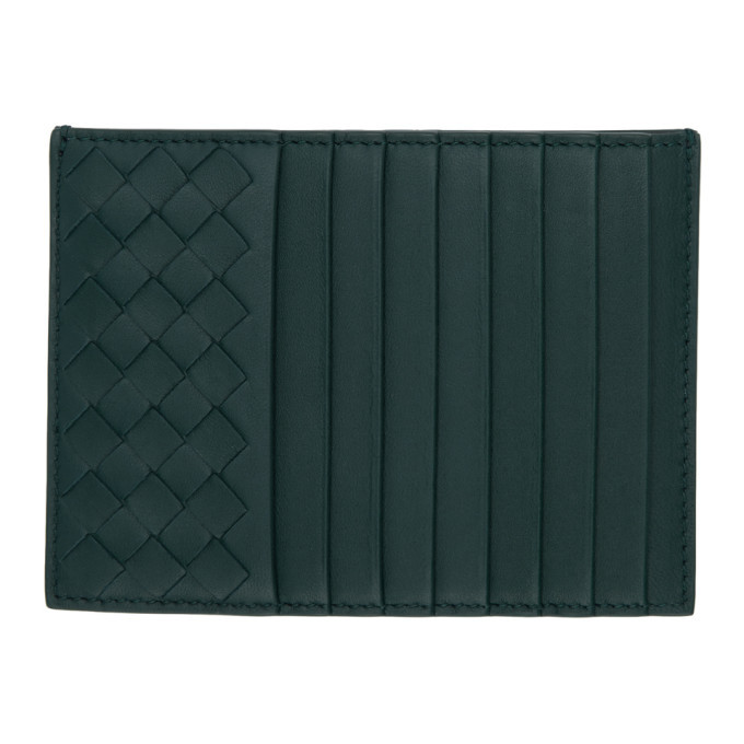 Photo: Bottega Veneta Blue Intrecciato Multi Card Holder