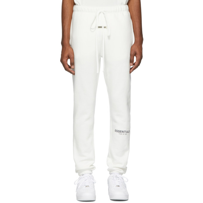 Photo: Essentials White Reflective Fleece Lounge Pants