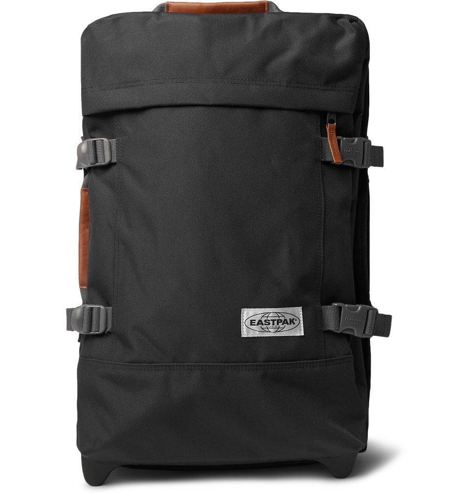 Photo: Eastpak - Tranverz S 51cm Leather-Trimmed Canvas Suitcase - Black