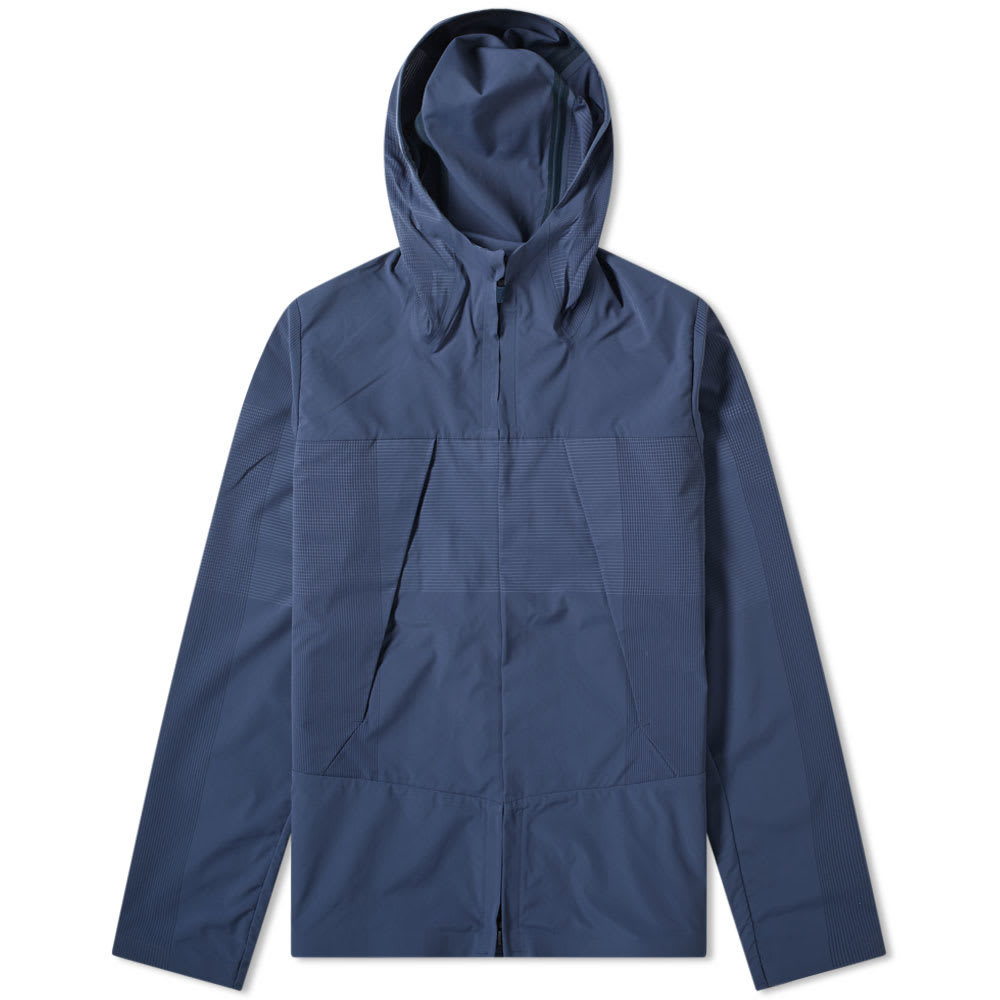 Photo: Descente Allterrain Schematech Air Hooded Jacket Slate Navy
