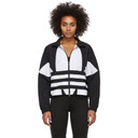 adidas Originals Black and White Large Logo Track Jacket