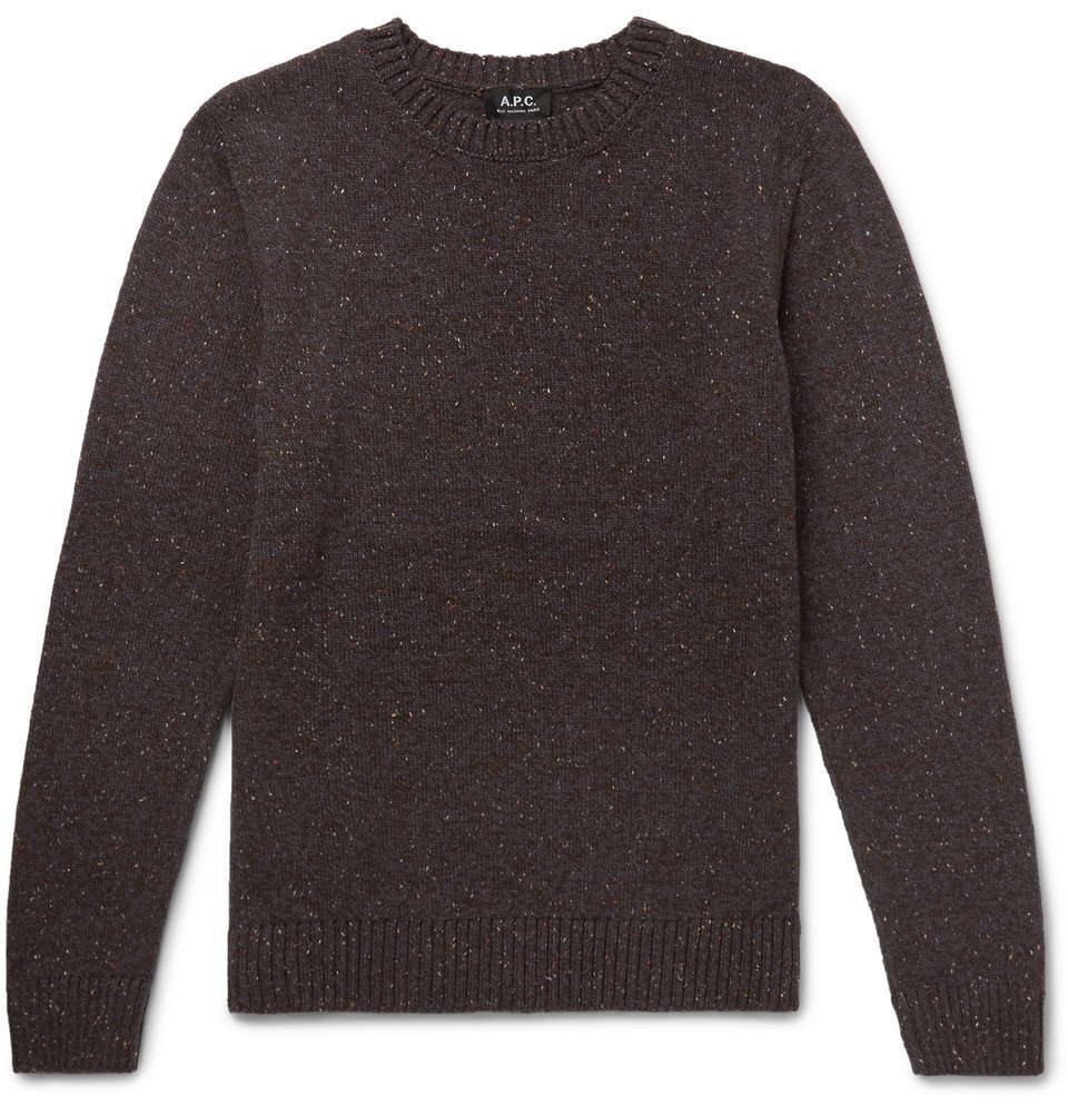Photo: A.P.C. - Rory Mélange Wool Sweater - Men - Dark brown