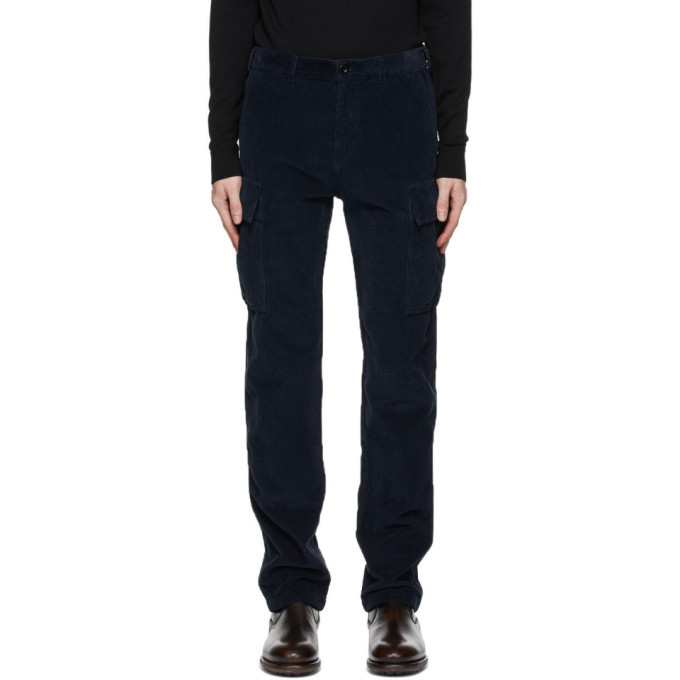 Photo: Belstaff Navy Cord Holder Cargo Pants