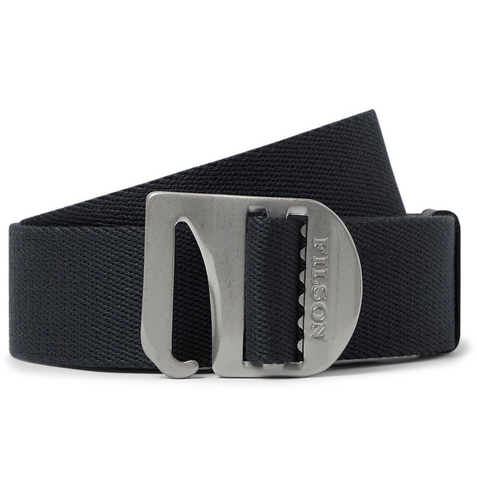 Filson - Charcoal Togiak 4cm Leather-Trimmed Webbing Belt - Charcoal