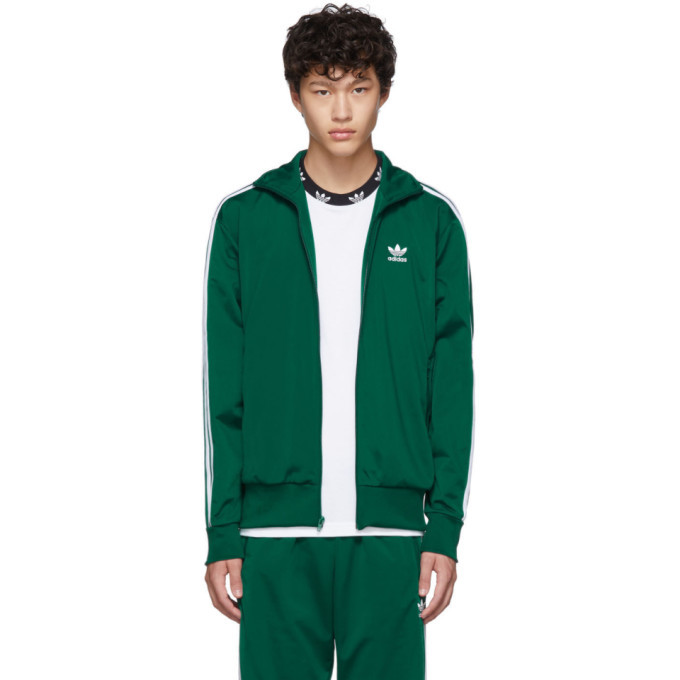 Photo: adidas Originals Green Firebird Zip-Up Sweater