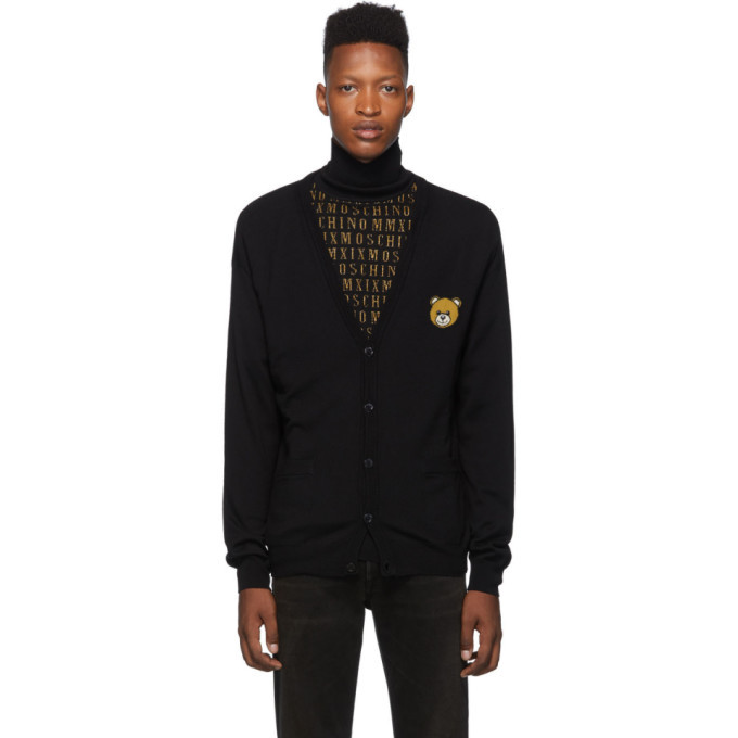 Photo: Moschino Black Teddy Cardigan