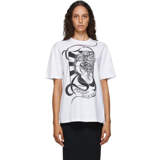 Photo: Alexander McQueen White Art Nouveau T-Shirt