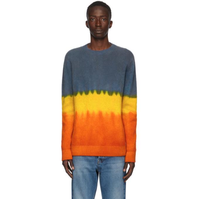 Photo: The Elder Statesman Multicolor Gradient Simple Crewneck Sweater