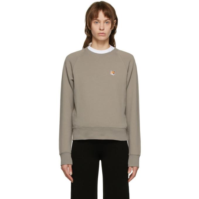 Photo: Maison Kitsune Grey Fox Head Sweatshirt