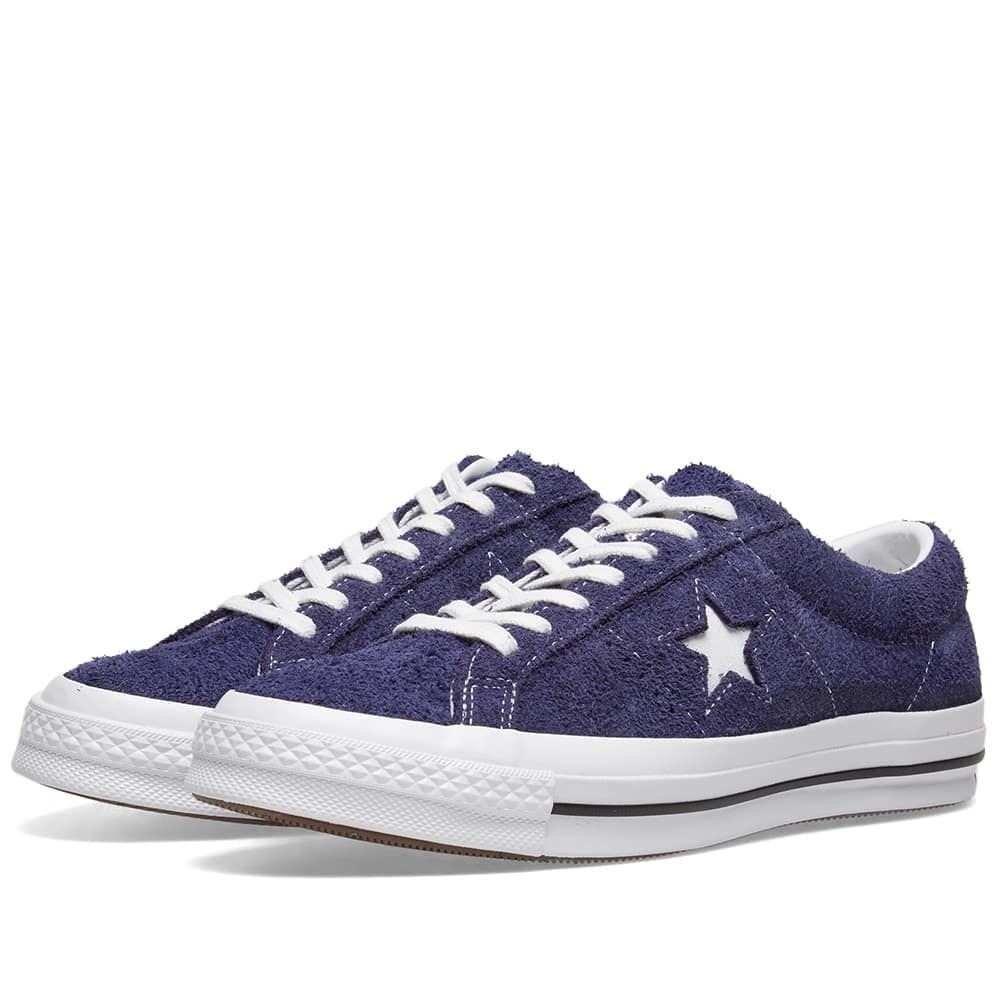Photo: Converse One Star Ox Vintage Suede Eclipse & White