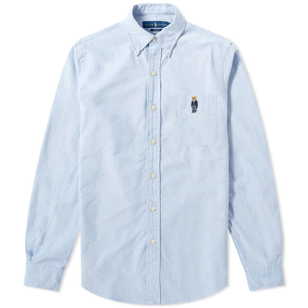 Photo: Polo Ralph Lauren Slim Fit Embroidered Bear Button Down Shirt