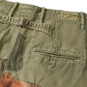 KAPITAL - Appliquéd Embroidered Distressed Cotton-Twill Trousers - Green