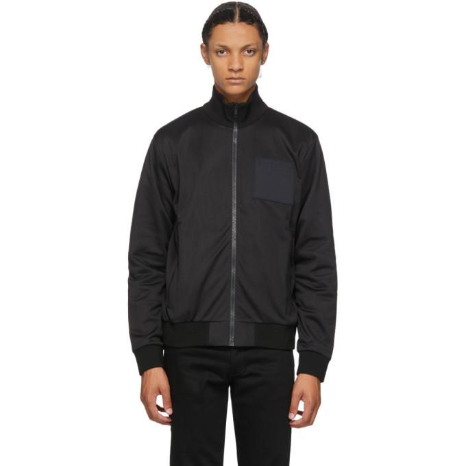 Photo: Givenchy Black Address Logo Patch Bomber Jacket