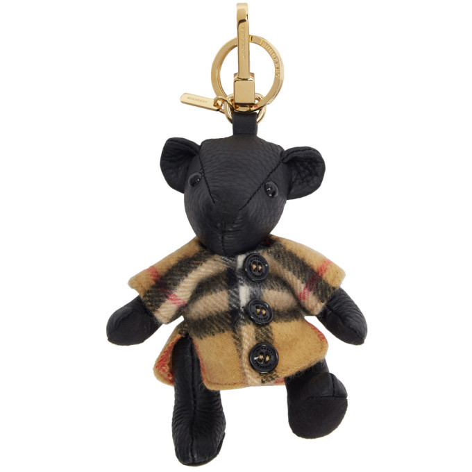 pre order wholesale online look for Burberry Black Vintage Check Thomas Bear Keychain