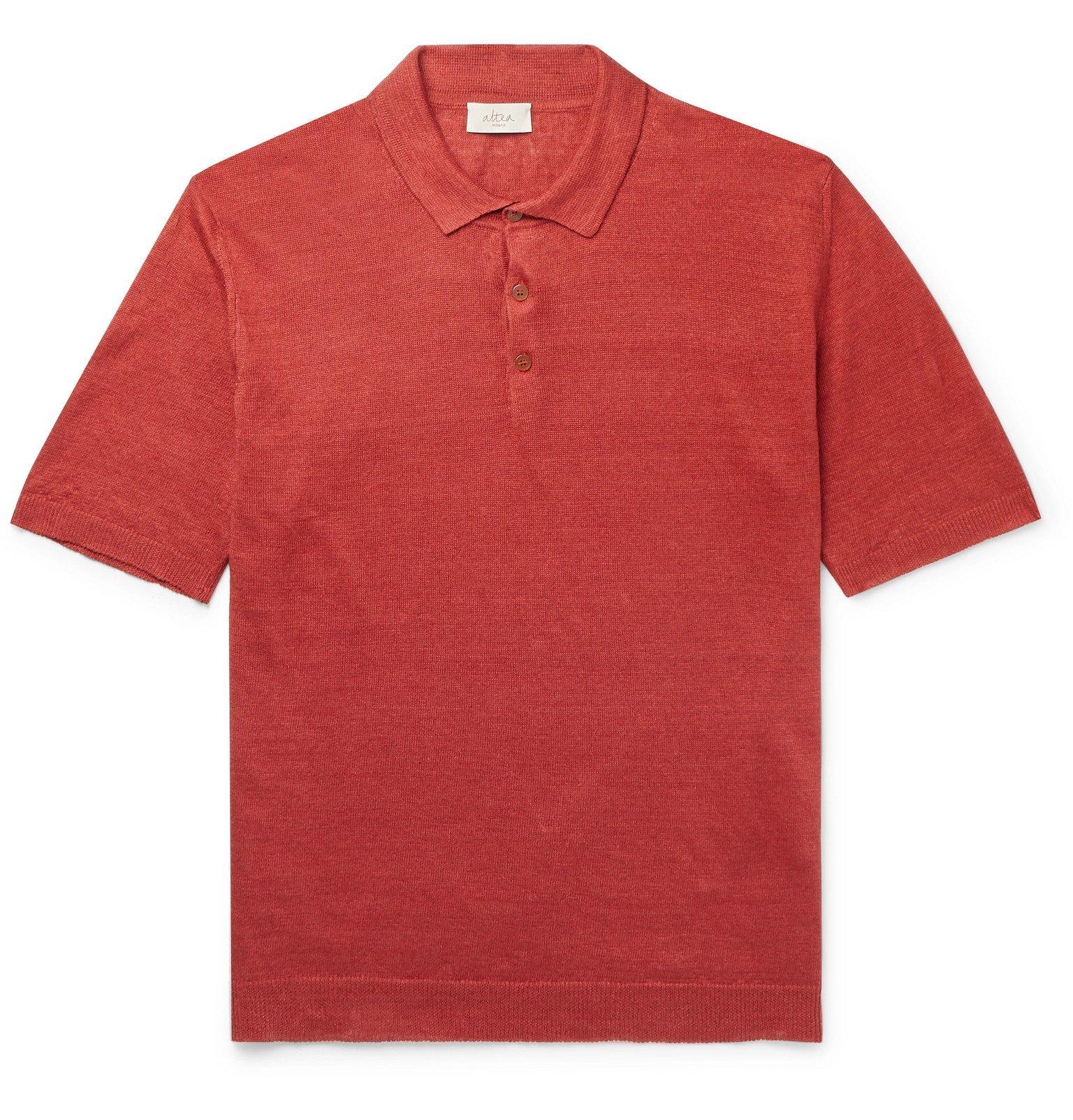 Photo: Altea - Linen Polo Shirt - Orange