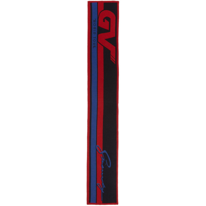 Photo: Givenchy Red and Black GV World Tour Scarf