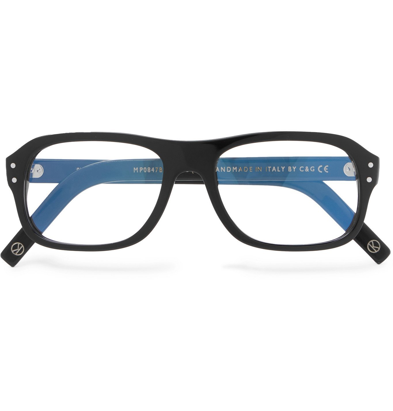 Photo: Kingsman - Cutler and Gross Eggsy's Square-Frame Acetate Optical Glasses - Black